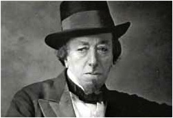 "Disraeli, shortly after his appearance on ""Pimp my Tory"""