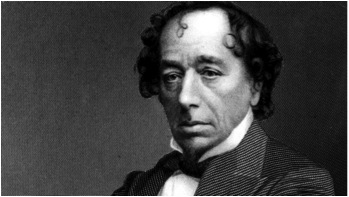 Disraeli's attempt to 'combover' his bald spot was half hearted at best