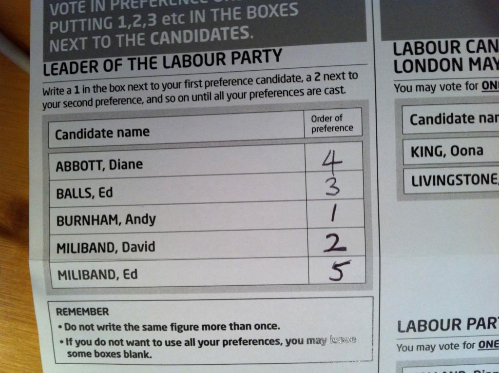 Ian Mckenzie ballot